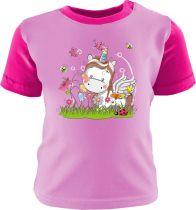 Baby und Kinder Shirt Multicolor Kleiner Fratz & Friends Einhorn Weiss