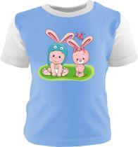 Baby und Kinder Langarm Shirt EINHORN / Shirt unifarbig / Ärmel Einhorn