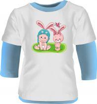 Set Baby Body Multicolor langarm + Baby Beanie + Wende-Halstuch