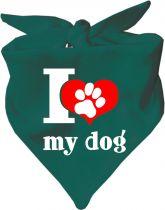 Dreieckstuch Hundehalstuch I love my Dog