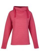 Ladie Kasak-Sweatshirt mit hohen, überkreuzten Kragen