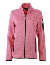 Ladies Strickfleece Jacke mit Stehkragen
