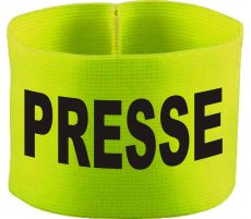 rubber elastic armband / mediaband with PRESSE / 10 cm height