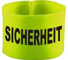 rubber elastic armband / mediaband with SICHERHEIT / 10 cm height