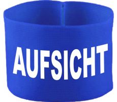 rubber elastic armband / mediaband with AUFSICHT / 10 cm height