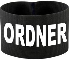 rubber elastic armband / mediaband with ORDNER / 10 cm height