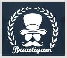 Shirt Bräutigam (mit Kranz und Figur)