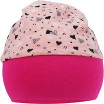 Baby Beanie Mütze mit breiten Bund Herzchendesign