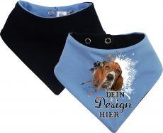 Tier Wende-Halstuch Ankerdesign mit Design 2 Pfotenkratzer und Name