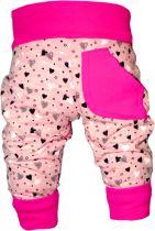 Kinder Pumphose lang / Herzmotiv / mit 1 kleinen Tasche