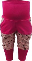 Kinder Pumphose lang / Herzmotiv / mit doppelter Tasche