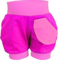 Kinder Sommer Pumphose kurz multicolor mit kleiner Tasche