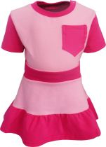 Baby / Kinder Stufenkleid mit Bund und Brusttasche multicolor ROSALINDE / rosa-pink