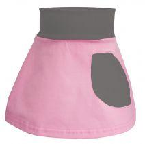 Baby / Kinder Rock mit kleiner Tasche multicolor SYLVIA / rosa-pink