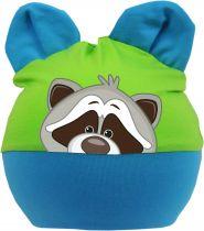 Baby Ohren Mütze Multicolor Sweet Animal WASCHBÄR