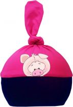 1-Zipfel Baby Mütze Multicolor Sweet Animals SCHWEIN