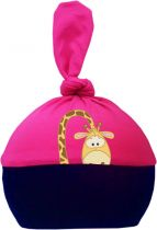 1-Zipfel Baby Mütze Multicolor Sweet Animals GIRAFFE