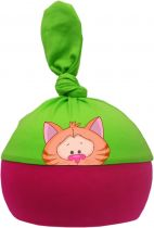 1-Zipfel Baby Mütze Multicolor Sweet Animals KATZE