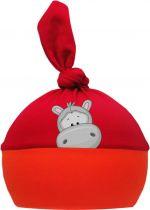 1-Zipfel Baby Mütze Multicolor Sweet Animals NILPFERD