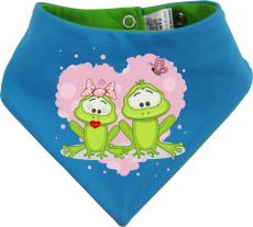 Baby Wende-Halstuch Multicolor Sweet Animal Paar Frosch
