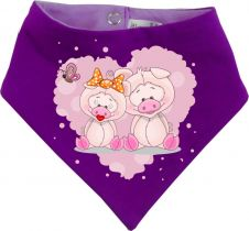 Baby Wende-Halstuch Multicolor Sweet Animal Paar Schwein