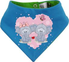 Baby Wende-Halstuch Multicolor Sweet Animal Paar Elefant