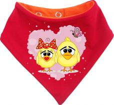 Baby Wende-Halstuch Multicolor Sweet Animal Paar Huhn