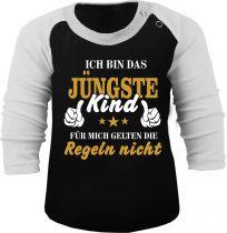Baby und Kinder Baseball Langarm Shirt - Ich bin das Jüngste Kind