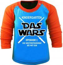 Baby und Kinder Baseball Langarm Shirt Das wars ... Kindergarten