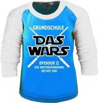 Baby und Kinder Baseball Langarm Shirt - Das war´s ... Grundschule