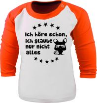 Baby und Kinder Baseball Langarm Shirt - Ich höre schon