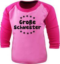 Baby und  Kinder Shirt - Große Schwester- Raglan Baseball Langarm T-Shirt