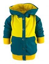 Baby und Kinder Kaputzen Jacke STREIFENMOTIV mit Bauchtasche