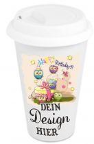 Eco-Mug Porzellan HENRY mit Deckel 11oz