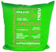 Kissen 40 x 40 cm Baumwolle mit Sternzeichen Jungfrau
