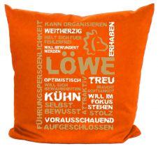 Kissen 40 x 40 cm Baumwolle mit Sternzeichen Löwe