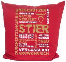 Kissen 40x40 cm Baumwolle Sternzeichen Stier