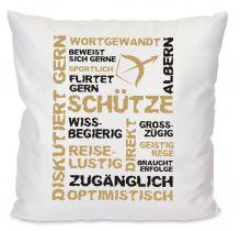 Kissen 40 x 40 cm Baumwolle mit Sternzeichen Schütze