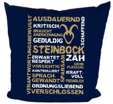 Kissen 40 x 40 cm Baumwolle mit Sternzeichen Steinbock