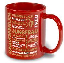 Keramiktasse LENA farbig mit Sternzeichen Jungfrau