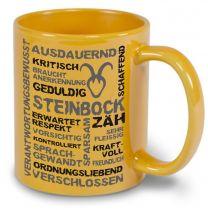 Keramiktasse LENA farbig mit Sternzeichen Steinbock