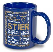 Ceramic mug LENA colored with star sign Stier