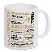 Keramiktasse LENA mit Sternzeichen Jungfrau