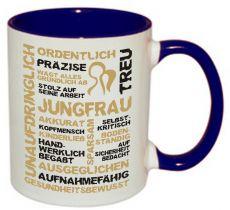 Tasse TWO TONES & HANDLE (Henkel + Innen farbig) mit Sternzeichen Jungfrau