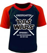 Baby und Kinder Kurzarm Baseball T-Shirt -  Kindergarten -