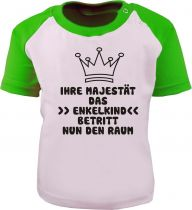 Baby und Kinder Kurzarm Baseball T-Shirt -  Ihre Majestät das Enkelkind -
