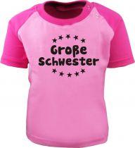 Baby und  Kinder Kurzarm Baseball T-Shirt -  Große Schwester -