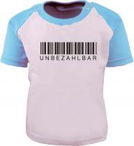 Baby / Kinder Kurzarm Raglan Baseball T-Shirt -  Unbezahlbar -