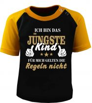 Kids Raglan Baseball shortsleeve T-Shirt - Ich bin das Jüngste Kind