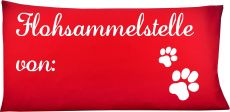 Hunde Kissen 80 x 40 cm Flohsammelstelle von und Namen